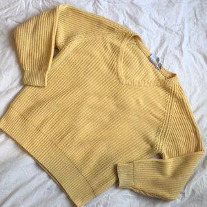 Yellow Fisherman Knit Sweater